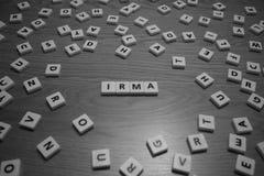 Irma bokstäver Royaltyfria Bilder