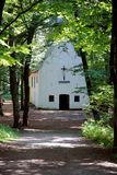 Irmgardis chapel, hidden in the wood. Irmgardis chapel  hidden in the woods of Viersen, germany. Once the year there is a pilgrimage week to this little chapel Stock Images