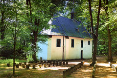 Irmgardis chapel. In the woods of Viersen, germany. Once the year there is a pilgrimage week to this little chapel outside in the woods Stock Photos