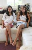 Irmãs felizes Fotografia de Stock
