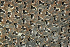 Iron. Chequered iron background. Metal texture Royalty Free Stock Image