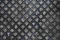 Iron. Chequered iron background. Close up Stock Photo