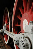 Iron Age 20. The wheel of the locomotive of last century, the size and power of these monsters last century vpechetlyaet Stock Photo