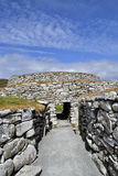 Iron Age Broch entrance Stock Photography