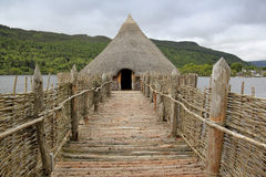Iron age crannog loch tay scotland Stock Photography