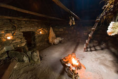Iron age Dwelling at Bostadh in the Outer Hebrides Stock Image