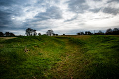 Iron age earth works Stock Photography