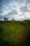 Iron age earth works Stock Photo