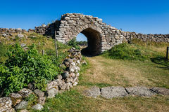 Iron age fort in Sweden Royalty Free Stock Image