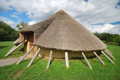 Iron  age home Stock Photos
