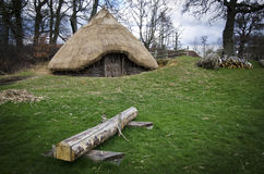Iron Age Round House Royalty Free Stock Photo