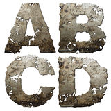 Iron alphabet. stock illustration