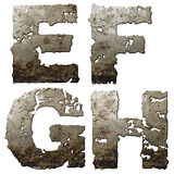 Iron alphabet. Stock Photo