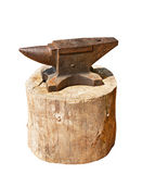 Iron anvil. Anvil isolated on white background Royalty Free Stock Photography