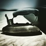 Iron. Artistic look in duotone style. Stock Photos