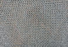 Iron background, chain mail, hauberk, coat of mail, brigandine, ring-mail background. Iron background, chain mail, hauberk, coat of mail, brigandine ring-mail Stock Photos