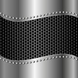 Iron background. With grate texture Royalty Free Stock Photo