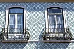 Iron balconies in Lisbon, Portugal Stock Image