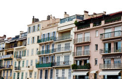 Iron Balconies on Pink Buildings Royalty Free Stock Images