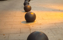 Concrete black balls Royalty Free Stock Photos