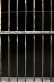 Iron baluster or steel Cage isolate on background Stock Images