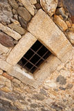 Iron barred window Royalty Free Stock Images