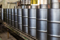 Iron barrels Royalty Free Stock Images