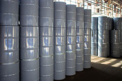 Iron barrels Royalty Free Stock Photo