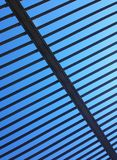 Iron bars on a blue sky Royalty Free Stock Photography