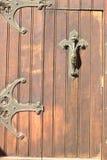 Iron bars on the door Royalty Free Stock Photos