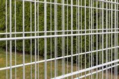 Iron bars of an empty gabion wall Royalty Free Stock Photo