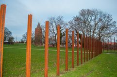 Iron bars representing the location of Vordingborg castle in Den Royalty Free Stock Photography