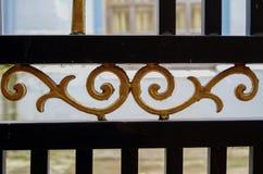 Iron bars used as fences stock photo