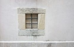 Iron bars on window. Iron bars on closed off window Stock Image