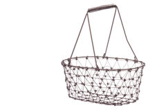 Iron Basket Isolated Royalty Free Stock Photos