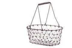 Iron Basket Isolated. Isolated image an iron basket Royalty Free Stock Photos