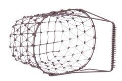Iron Basket Isolated. Isolated image an iron basket Stock Photos