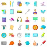 Iron battery icons set, cartoon style. Iron battery icons set. Cartoon style of 36 iron battery vector icons for web isolated on white background vector illustration
