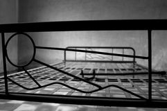 Iron bed at s-21, Phnom Penh Royalty Free Stock Images