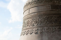 Iron bell of orthodox church, close up Stock Image