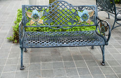 Iron bench Royalty Free Stock Photo