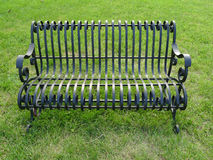 An iron bench Royalty Free Stock Photography