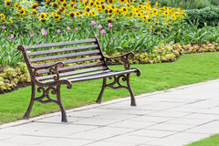 Iron bench in a park Royalty Free Stock Images