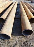 Iron big-diameter tubes Royalty Free Stock Images
