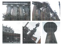Iron blast furnaces - dots Royalty Free Stock Image