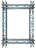 Iron blue shiny rectangle construction frame Royalty Free Stock Image