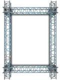 Iron blue shiny rectangle construction frame Royalty Free Stock Image