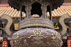 Iron brazier in a Chinese Temple. Kunming, Yunnan, China Stock Photos