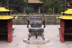 Iron brazier in a Chinese Temple. Kunming, Yunnan, China Stock Images