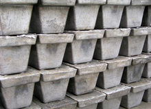 Iron bricks Stock Photography